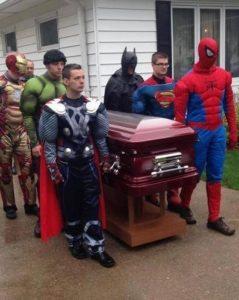 Super Heroes Funeral