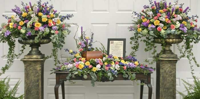 Torres Mortuary flower arrangement